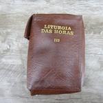 Capa em couro Liturgia das Horas - Marrom Volume III