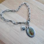 Pulseira Cadeia Consagração Nossa Senhora de Guadalupe -Aço Inox