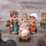 Presépio Rosto Infantil - Completo em Resina - 8.4 cm 12 peças