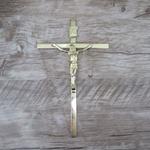 Crucifixo de Parede Estilizado Dourado 19x32 (ref 12/17)