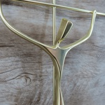Crucifixo Parede Estilizado - Dourado 29 x 53