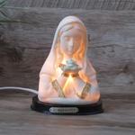 Abajur em resina- Nossa Senhora Rosa Mística 110v