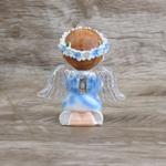 Anjinho com asa iluminada 12 cm -Azul