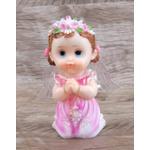 Anjinho com asa iluminada 15 cm - Rosa