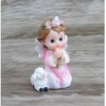 Anjinho em resina : 7 cm - Rosa