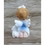Anjinho em resina : 7 cm - Azul