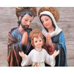 Imagem : Busto Sagrada Família em Resina - 12 cm