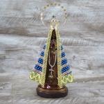 Imagem Gesso - Nossa Senhora Aparecida 20 cm Pérola e Coroa