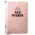 Bíblia Ave Maria - Com Zíper- Rosa- Média