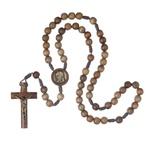 Terço de Madeira com Cordão - São Padre Pio - 10mm