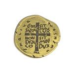 Broche Medalha das duas Cruzes - Cor Ouro Velho