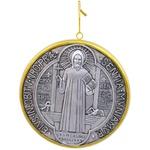 Medalhão de Parede São Bento - Resina 15x15