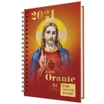 Diario Orante Com Lectio Divina 2021 Espiral Jesus Capa Vermelha