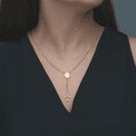 Colar Terço Metal Dourado - Vidrinho