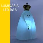 Luminária Nossa Senhora Aparecida LED RGB com fio