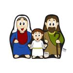 Naninha Travesseirinho Boneco Sagrada Família