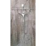 Crucifixo Parede Estilizado - Prata 29 x 53 (ref.77)