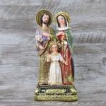 Imagem : Sagrada Família em Resina - 21 cm