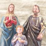 Imagem : Sagrada Família em Gesso 40 cm