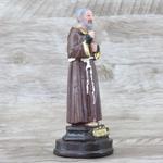 Imagem em Resina - São Padre Pio 12 cm