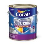 CORAL PROTECAO SOL & CHUVA ACRILICO TOTAL BRANCO 3,6L