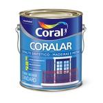 CORAL CORALAR ESMALTE BRANCO BRILHANTE 3,6L