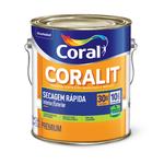 CORAL CORALIT ZERO SECAGEM RAPIDA BRILHANTE PRETO 3,6L