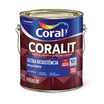 CORAL CORALIT ULTRA RESISTENCIA BRILHANTE CINZA MÉDIO 3,6L