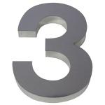 Número Residencial Autoadesivo Prata Atlas Primafer Do 0 Ao 9