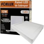 Painel LED de Sobrepor Quadrado 12W Bivolt - FOXLUX-LED9066