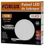 Painel LED de Sobrepor Redondo 12W Bivolt - FOXLUX-LED9060