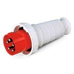 Plug Lukma 3P+T 125A 380-415V 9H Vermelho