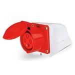 Tomada Sobrepor Lukma 3P+T 32A 380-415V 6H Vermelho
