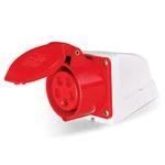 Tomada Sobrepor Lukma 3P+T+N 32A 380-415V 9H Vermelho