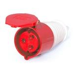 Acoplamento Lukma 2P+T 16A 380-415V 9H Vermelho