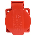 Tomada Embutir Lukma 2P+T 20A 127-240V 12H Vermelha