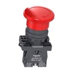 Botão 22mm Plástico Emergência 40mm Vermelho NF XA2ES542 Schneider