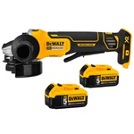 Esmerilhadeira Angular Brushless 4.1/2 Pol. com 2 Baterias 20V 5.0Ah 127V DEWALT DCG413P2-B2