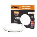 Painel LED de Embutir Redondo 12W Bivolt - FOXLUX-LED9041