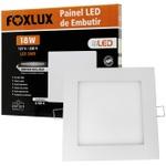 Painel LED de Embutir Quadrado 18W Bivolt - FOXLUX-LED9048