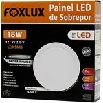 Painel LED de Sobrepor Redondo 18W Bivolt - FOXLUX-LED9061