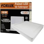 Painel LED de Sobrepor Quadrado 18W Bivolt - FOXLUX-LED9067