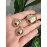 Brinco Metal Zircônia Lesprit LB23601 Dourado Cristal