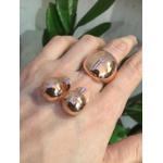 Brinco Metal Zircônia Lesprit LB23601 Rosé Cristal