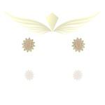 Conjunto Colar e Brinco Zircônia Lesprit 00000 Dourado Rosa
