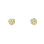 Conjunto Colar Zircônia Lesprit U18K080051 Dourado Cristal