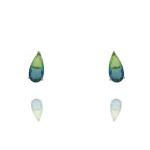 Conjunto Zirconia Lesprit JXON001541 Ródio Rainbow Verde e Azul