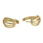 Conjunto Brinco e Anel Metal Lesprit 60078821 Dourado