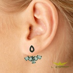 EAR JACKET DE ZIRCONIA LBBK