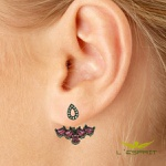 EAR JACKET DE ZIRCONIA RUBK